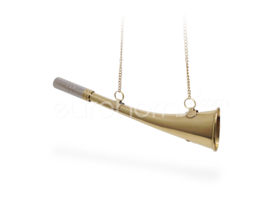 23cm long Brass curved shipping horn
